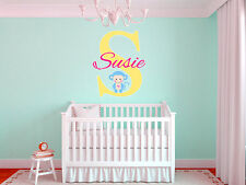 Baby Monkey Name Wall Decal Monogram Nursery Room Vinyl Graphics Boys Girls Baby