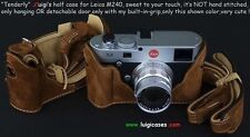 LUIGI TENDERLY CASE+GRIP for LEICA MP/M240,+DELUXE STRAP+SHIPPING,REDUCED PRICE