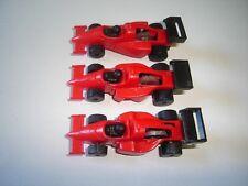 RED FORMULA 1 1990 MODEL CARS SET 1:87 H0 - KINDER SURPRISE PLASTIC MINIATURES