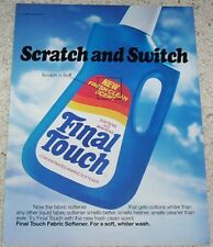 1984 vintage ad - Final Touch laundry softener Scratch & Sniff ADVERTISING