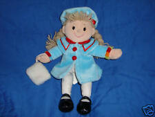 "Animal Alley Plush Doll 11"" 2000 Blue coat & white muff"