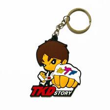 Taekwondo Key Ring Faust Glove Tkd Story Keychain Cartoon Design