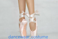 Professional Satin Ballet Pointe Shoes Dance Toe Shoes with Ribbon ALL Size NEW