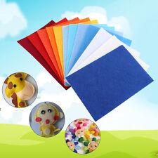 40 Pcs 10x15cm Colorful Nonwoven Felt Fabric Bundle Sheets DIY Craft Patchwork