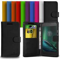 Custodia Case Flip Cover Pelle Anukku Portafogli Libro Per Motorola Moto G4 Play