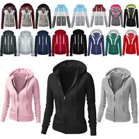 Women,s Hooded Long Sleeve Sweatshirt Zip Up Hoodie Casual Jacket Sports Outdoor