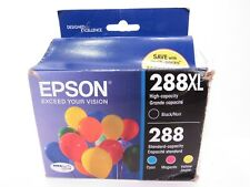 New EPSON 288XL Black 288 Color Ink 4-Pack Genuine T288XL-BCS ex 2019 DENTED BOX