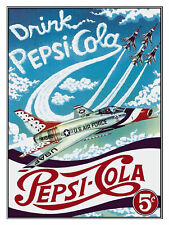 DRINK PEPSI COLA, Plaque Retro Art  printed metal sign vintage sign tin