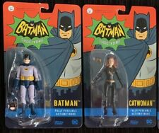 """X2 LOT FUNKO 3.75"""" 1966 BATMAN TV SERIES BATMAN AND CATWOMAN FIGURES"""