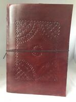 Large Leather photo album picture scrapbook paintin Lock Fairtrade Handmade gift