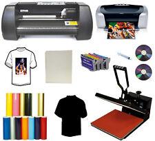 """15""""x15"""" Heat Press,Printer,13"""" Laser Point PU Vinyl Cutter Plotter,Cartridges PK"""