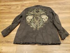 ARCHAIC Bound For Glory Mens Size M Jacket Blazer Double Button Medium Skulls