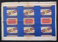 Planche d'imprimerie lithographiée étiquette Chicorée GARGANTUA d'époque 74x51cm