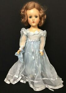 Vintage MADAME ALEXANDER Doll Blue Sheer Dress with Tag Shoes Wendy