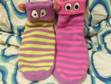 Little miss matched Littlemissmatched Slippers Green Purple Pink Critters Kids