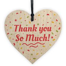 Thank You Teacher Nurse Midwife Tutor Friend Family Handmade Wood Heart Gift