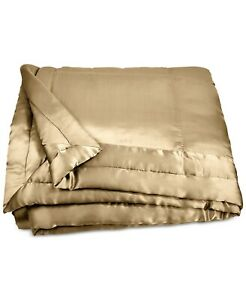 Donna Karan Home FULL/QUEEN Silk Quilt Reflection Gold Dust E06060