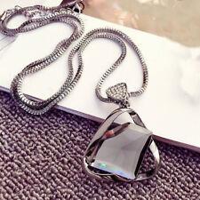 Geometry Crystal Rhinestone Pendant Sweater Long Chain Necklace Jewelry Gift