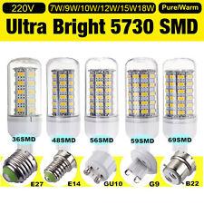 1/4/10x Bright E27 E14 G9 B22 Bayonet 5730 SMD LED Corn Light Bulb 220V - 240V