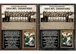 1964 Cleveland Browns NFL Champions Photo Card Plaque