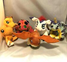 Lot of 6 Digimon plush GABUMON AGUMON GOMAMON PATAMON TENTOMON Bandai Japan doll