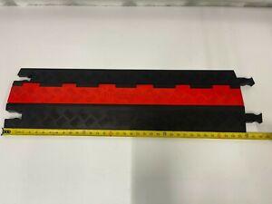 Guard Dog GD1X75-ST-O/B Polyurethane Heavy-Duty 1-Channel Low-Profile Cable Cov.