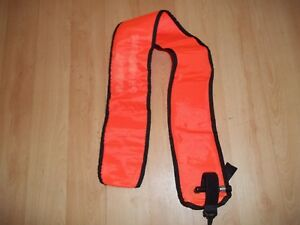 Orange Inflatable Safety Tube for Scuba Diving
