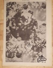 Pink Floyd La Vallee Obscured clouds 1972 press advert Full page 26x38 cm poster