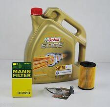 5L Castrol EDGE FST 5W-30 Longlife MANN Ölfilter Audi A3 A4 Q3 Q5 2.0TDI 1.6TDI