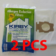 2 x For KIRBY VACUUM BAGS:12 Sentria UNIVERSAL~ F Style MICRON MAGIC Hepa