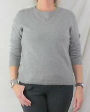 Valerie Stevens Cashmere Sweater L size New Gray 2ply Soft Crew Neck Easy Wear