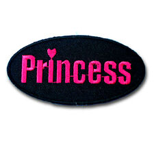 Princess Patch Embroidered Iron on Cartoon Applique Pretty Cute Name Tag Kids