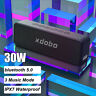 30W bluetooth 5.0 Súper Bajo Altavoz IPX7 Impermeable 3 Modo de Música TF AU