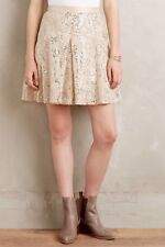 NWT New Plenty By Tracy Reese Anthropologie Gold Sequined Mezza Skirt 0 Holiday