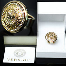 VERSACE Men's GOLD MEDUSA RING w/ Box & Certificate (9)