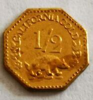 1852 half Dollar california Gold coin collection USA Indian head tête indien $