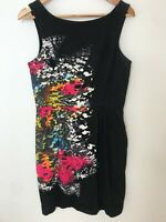 Cue In The City Multicolour Cotton Sleeveless Dress Races Cocktail Dress Size 12