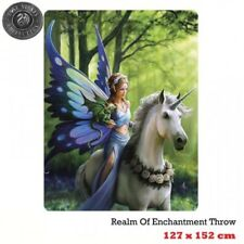 ANNE STOKES REALM OF ENCHANTMENT FANTASY Throw Rug Blanket Bedroom Home Decor