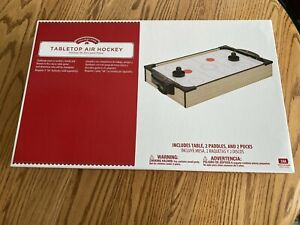 Tabletop Air Hockey 20in Holiday Time Super Fun NEW in box