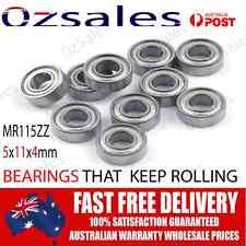 Oz Seller 4pc High Speed Lightweight 5x11x4mm ball Bearings Motor Diff Clutch