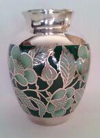 Friedrich Wilhelm Spahr, Vase, Art Deco, Silveroverlay, beschädigt
