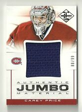 2012-13 Limited CAREY PRICE Authentic JUMBO Materials Jersey Serial #88/99