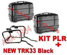 KIT 2 VALIGIE GIVI TRK33 BLACK + TELAIO PLR3112  SUZUKI DL 650 V-STROM dal 2017