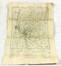 1940 Antique Map of India Indian Punjab Ambala Karnal Patiala British Empire