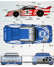 1/24 TRANS & REPLACEMENT DECAL LANCIA BETA MONTE CARLO #19 #33 for ESCI