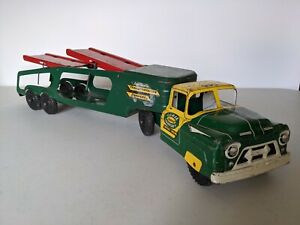"Vintage 1950s Marx E227 ""Lumar Transport Company"" Pressed Steel Truck"