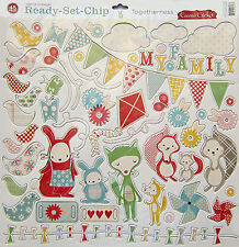 Cosmo Cricket  [Togetherness]   12 x 12 Chipboard Elements