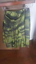 Prada Sz 42 Fits Small / XS Green/Black Silk Print Skirt