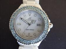 Klaus Kobec cristallo in ceramica cc12 orologio al quarzo con set di cristallo su lunetta