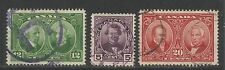 Canada 1927 Historical Issue--Attractive Topical (146-48) fine used